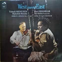 винил LP India: YEHUDI MENUHIN & RAVI SHANKAR ''West Meets East'' (1966 RI India RARE press, ASD. 2294, ex/ex) (D)