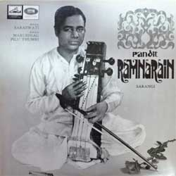 винил LP India: PANDIT RAMNARAIN ''Sarangi'' (1968 India RARE press, EALP 1327, ex+/ex+) (D)