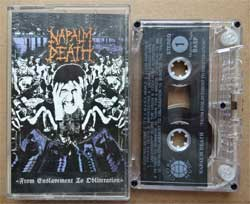 аудиокассета NAPALM DEATH ''From Enslavement To Obliteration'' (1988 RI 1998 Russian press, ex/ex) (MC972)