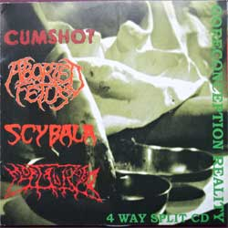 CUMSHOT/ABORTED FETUS/SCYBALA/MORTALIZED ''Goreconception Reality 4 Way Split CD'' (2006 Russian press, COY 22-06, vg+/ex) (CD)