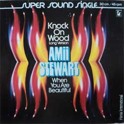 винил LP AMII STEWART ''Knock On Wood (Long Version) - When You Are Beautiful'' (super sound 12'')(1979 German press, ex+/ex-)
