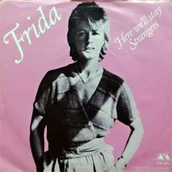 винил LP ABBA (FRIDA) ''Here We'll Stay/Strangers'' (7''single) (1983 Sweden press, textured, POS 1334, ex/ex)