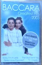 аудиокассета BACCARA ''Greatest Hits 2003'' (2003 Russian press, TMMC-09-03, mint/mint, still sealed) (MC1964)