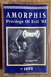 аудиокассета AMORPHIS ''Privilege Of Evil''/CREMATORY ''Ist Es Wahr E.P.'' (1993/1996 RI 1996 Russian RARE press, 0066-96, ex/ex+) (MC2929)