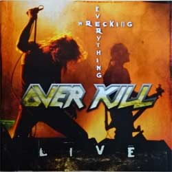 OVERKILL ''Wrecking Everything Live'' (2002 German press, SPITCD223/GAS 0000223 SPR, ex-/ex) (CD)