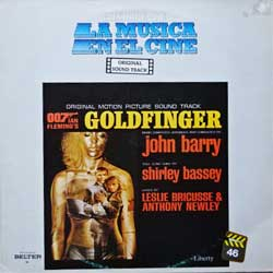 винил LP JAMES BOND 007: GOLDFINGER - OST (1964 RI 1983 Spain press, serie ''Historia De La Musica En El Cine'', 2.90-046, ex/ex-)