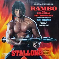 винил LP JERRY GOLDSMITH ''RAMBO First Blood Part II - OST'' (1985 German press, laminated, CST 8005, vg+/ex-)