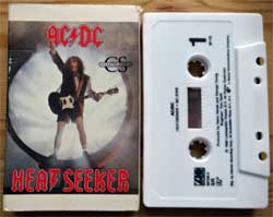 аудиокассета AC/DC ''Heatseeker'' (CS-single) (1988 USA press, cardboard O-card, Dolby, SR, 789136-4, mint/ex) (MC3051) (D)