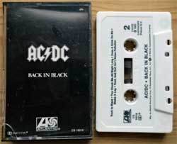 аудиокассета AC/DC ''Back In Black'' (1980 RI USA press, barcode, CS 16018, mint/mint) (MC3058)