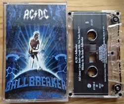 аудиокассета AC/DC ''Ballbreaker'' (1995 USA press, Dolby HX PRO, S NR, digalog, 61780-4, mint/mint) (MC3059)