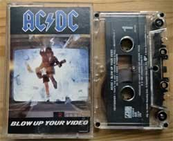 аудиокассета AC/DC ''Blow Up Your Video'' (1988 USA press, Dolby HX PRO, SR, 781828-4, ex/mint) (MC3060)