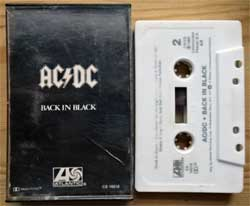 аудиокассета AC/DC ''Back In Black'' (1980 USA press, no barcode, Dolby, CS 16018, ex/ex-) (MC3061)