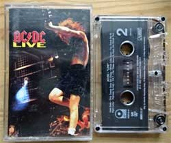 аудиокассета AC/DC ''Live'' (1992 USA press, Dolby HX PRO, SR, Digalog, 792215-4, near mint/near mint) (MC3063)