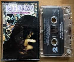 аудиокассета IRON MAIDEN (BRUCE DICKINSON) ''Tattooed Millionaire'' (1990 USA press, Dolby B, Ct 46139, ex/near mint) (MC3093)