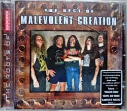 MALEVOLENT CREATION ''The Best Of Malevolent Creation'' (2003 Holland press, original sticker, RR 8344-2, matrix manufactured by Optimal Media Production A387602-01, vg+/ex+) (CD)