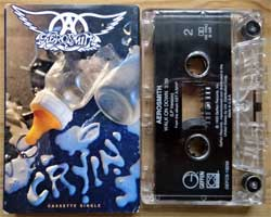 аудиокассета AEROSMITH ''Cryin'' (CS-single) (1993 USA press, cardboard O-card, Dolby HX PRO B NR, GEFCS-19256, ex/ex) (MC3250)