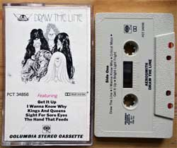 аудиокассета AEROSMITH ''Draw The Line'' (1977 USA press, Dolby, PCT 34856, mint/mint) (MC3251)