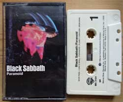 аудиокассета BLACK SABBATH ''Paranoid'' (1970 RI USA press, SR, WB M5 3104, barcode 0208312000414, near mint/near mint) (MC3261) (D)