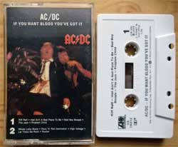 аудиокассета AC/DC ''If You Want Blood You've Got It'' (1978 RI USA press, Dolby B, CS 19212, barcode 075678155345, mint/mint) (MC3346)