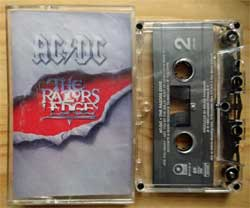 аудиокассета AC/DC ''The Razors Edge'' (1990 USA press, Chrome, Dolby HX PRO, SR, 791413-4, ex/near mint) (MC3347)