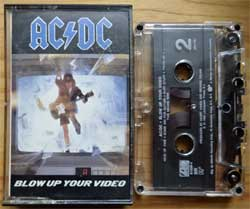 аудиокассета AC/DC ''Blow Up Your Video'' (1988 USA press, SR, Dolby HX PRO, 781828-4, ex+/mint) (MC3349)