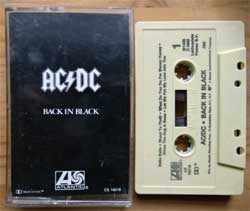 аудиокассета AC/DC ''Back In Black'' (1980 RI USA press, Dolby, AMI, CS 16018, barcode 075678147241, near mint/near mint) (MC3350)