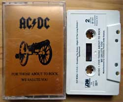 аудиокассета AC/DC ''For Those About To Rock We Salute You'' (1981 USA press, Dolby, CS 11111, near mint/mint) (MC3352)