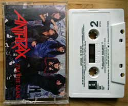 аудиокассета ANTHRAX ''I'm The Man'' (1987 USA press, SR, Dolby HX PRO, 790685-4, mint/mint) (MC3357)
