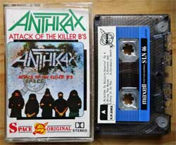 аудиокассета ANTHRAX ''Attack Of The Killer B's'' (1991 USA RARE press, Maxell S-LN 46, Dolby, S.N.2062, mint/mint) (MC3362)