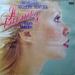 винил LP ANTHONY VENTURA ORCHESTER ''Je T'Aime 3 (Traum-Melodien)'' (1975 German press, textured, PPL1-4083, vg+/ex)