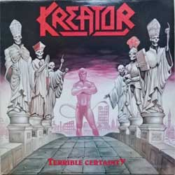 винил LP KREATOR ''Terrible Certainty'' (1987 RI 1991 South Korea RARE press, insert, SIPR-025 (N 0086), near mint/ex)