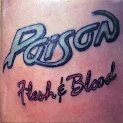 POISON ''Flesh & Blood'' (1990 UK press, CDP 7918132, EMI SWINDON, ex+/ex+) (CD)