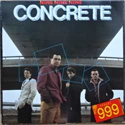 винил LP 999 (NINE NINE NINE) ''Concrete'' (1981 German press, insert, RARE PROMO-SHEET ''Album Facts'', insert, mint/ex+)