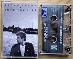 аудиокассета BRYAN ADAMS ''Into The Fire'' (1987 RI 1992 Turkey RARE press, AMC 3907, mint/mint) (MC2009)