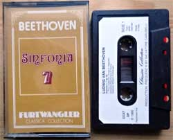 аудиокассета Classical: BEETHOVEN ''Sinfonia 7 (Furtwangler Classica Collection Series)'' (1986 Italy press, CCX7, mint/mint) (MC2037)