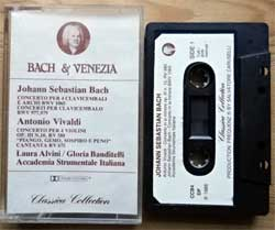аудиокассета Classical: J.S.BACH/A.VIVALDI ''Bach & Venezia'' (1986 Italy press, chrome, CCB4, mint/mint) (MC2040)