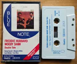 аудиокассета Blue Note: FREDDIE HUBBARD/WOODY SHAW ''Double Take'' (1985 USA press, XDR, Cobalt CS-1, Dolby, 4BT 85121, mint/mint) (MC3539)