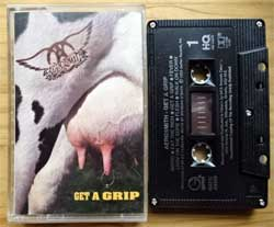 аудиокассета AEROSMITH ''Get A Grip'' (1993 Canada press, HQ, Dolby HX PRO B NR, GEFC-24455, mint/mint) (MC3572)
