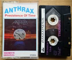 аудиокассета ANTHRAX ''Presistence Of Time'' (1990 United Arad Emirates RARE press, Japanes tape MAXELL UR-60, EN-3964, mint/mint)  (MC3626)
