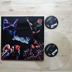 винил LP JUDAS PRIEST ''Live At The Zenith, Paris, France - On The 17th June 2015'' (2LP) (2015 USA press, CLEAR VINYL, limited edition 150 copies, handnumbered, 081/82, mint/mint)