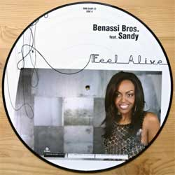 винил LP BENASSI BROS. feat. SANDY ''Feel Alive'' (picture-disc) (4-track 12'') (2006 German press, limited numbered edition 125/500, SMR 048P-12, mint/PVC)