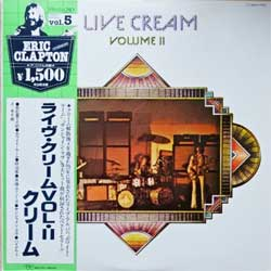 винил LP CREAM ''Live Cream Volume II'' (1980 Japan press, obi, insert, MWX-4005, near mint/near mint)