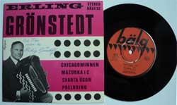 винил LP ERLING GRONSTEDT ''Chicagominnen''(4 track 7''single) (Sweden press, autographed, laminated, ex/mint)
