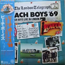 винил LP BEACH BOYS ''Beach Boys '69 (Live In London)'' (1970 RI 1977 Japan press, obi, insert, ECS-70103, near mint/near mint)