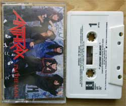 аудиокассета ANTHRAX ''I'm The Man'' (1987 USA press, DOLBY HX PRO, 7 90685-4, near mint/mint) (MC2049)
