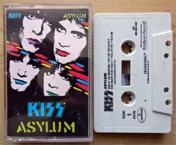 аудиокассета KISS ''Asylum'' (1985 USA press, 826 099-4M-1, near mint/ex) (MC2063)