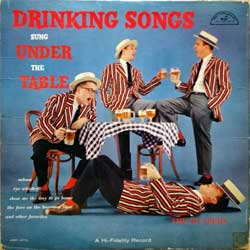 винил LP BLAZERS ''Drinking Songs Sung Under The Table'' (1958 USA RARE PROMO press, ABC-270, vg/vg)