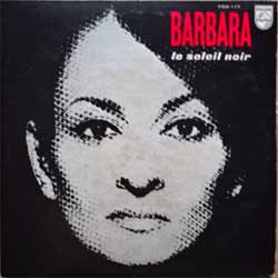 винил LP BARBARA ''Le Soleil Noir'' (1968 RI 1975 Japan press, insert, FDX-117, vg+/vg+)