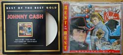 JOHNNY CASH ''Best Of The Best Gold'' (1995 Austria press, limited edition, golden CD, shaped O-card with gold foil stamping, 4805499, matrix Sony Music, mint/mint/ex-)(CD)