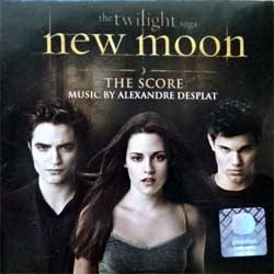 ALEXANDRE DESPLAT ''The Twilight Saga: New Moon The Score'' (2009 Russian press, golden CD, holographic sticker, mini-poster-booklette, 4690355001973, ex/mint) (CD)